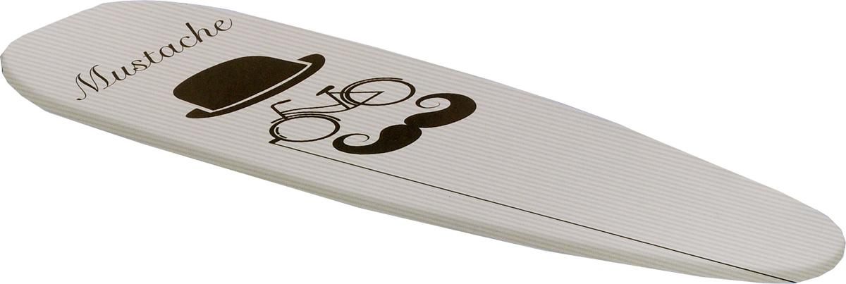 Чехол для гладильной доски Rayen, цвет: серый, черный, 51 х 127 см12760620_яблоко_яблокоЧехол Rayen, выполненный из высококачественных материалов, с двойной подкладкой толщиной 4 мм обеспечивает идеальное глаженье. Изделие устойчиво к высоким температурам. Микроотверстия позволяют гладить с паром. Метализационный материал отражает тепло в два раза эффективнее.Размер чехла: 51 х 127 см.