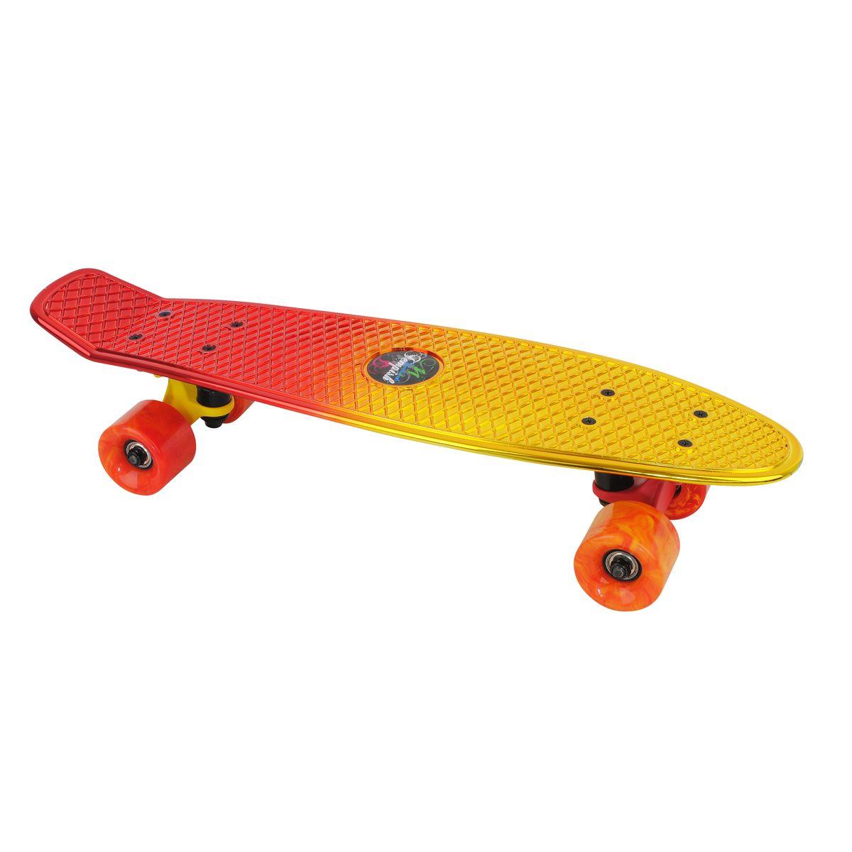 Скейтборд пластиковый Tempish Retro Buffy Star, цвет: золотистыйMHDR2G/AПени борд Tempish Buffy нагрузка до 100 кг