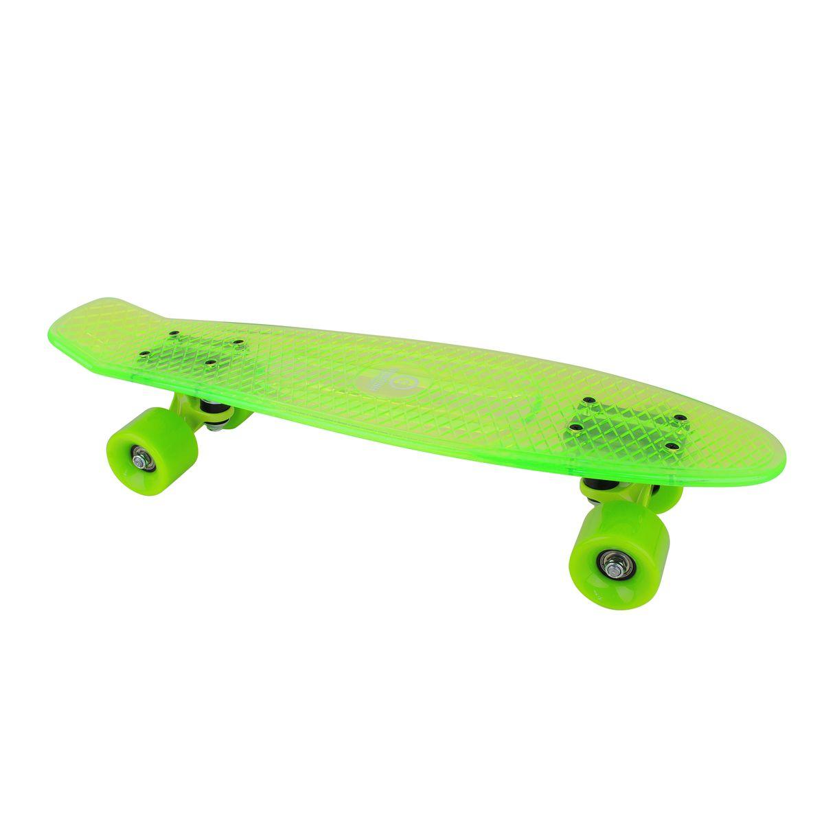 Скейтборд пластиковый Tempish Buffy Star, цвет: зеленыйУТ-00008230Пени борд Tempish Buffy нагрузка до 100 кг
