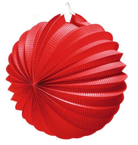 """Яркий гофрированный бумажный фонарик """"Susy Card"""", выполненный в виде шара, оснащен металлическим креплением, благодаря которому изделие можно подвесить в любом удобном для вас месте. Фонарик """"Susy Card"""" украсит интерьер любого помещения и предаст неповторимую атмосферу радости вашему торжеству. Диаметр фонарика: 22 см."""