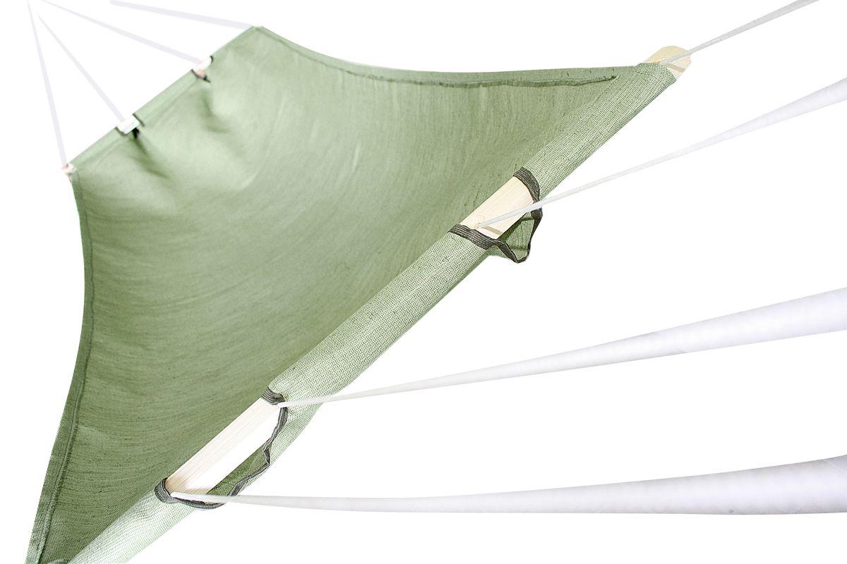 Гамак брезентовый Eva, цвет: зеленый, 85 х 180 смC0038548Прочный гамак Eva, изготовленный из высококачественного брезента, внесет дополнительный комфорт в ваш отдых на даче, в походе или на пикнике.Дача, лето, свежий воздух, отдых после тяжелой работы, возможность побыть наедине с природой, насладиться запахами листвы и цветов, солнечным светом, пробивающимся сквозь кроны деревьев - все эти приятные мысли и эмоции пробуждаются в нас при взгляде на один очень простой предмет - гамак.Нагрузка не более 100 кг.