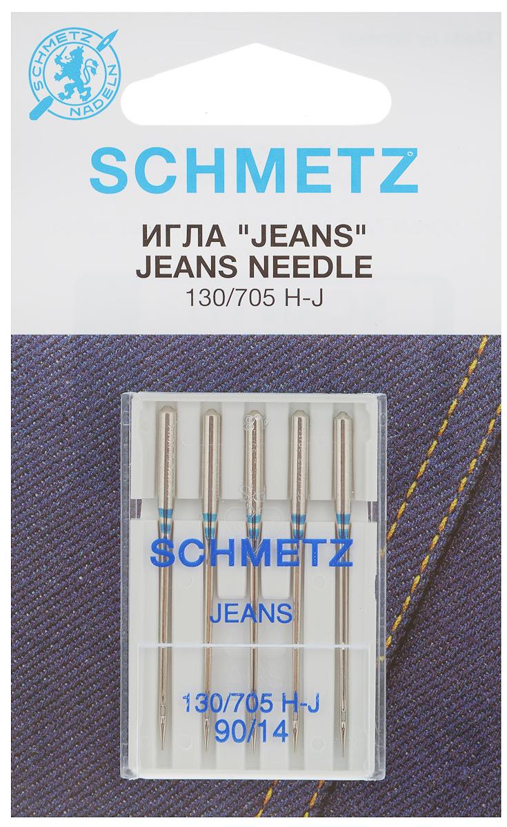 Набор игл для джинсы Schmetz Jeans, №90, 5 шт22:30.FB2.VDSНабор Schmetz Jeans состоит из пяти игл для бытовых швейных машин всех марок. Иглы со средним шарообразным острием и усиленным стержнем предназначены для джинсовой ткани, а также для прочих тканей повышенной прочности, например, парусины или брезента. Особая конструкция иглы позволяет проникать сквозь прочные толстые материалы, исключая их повреждение.Комплектация: 5 шт. Размер игл: №90.Стандарт: 130/705 H-J.