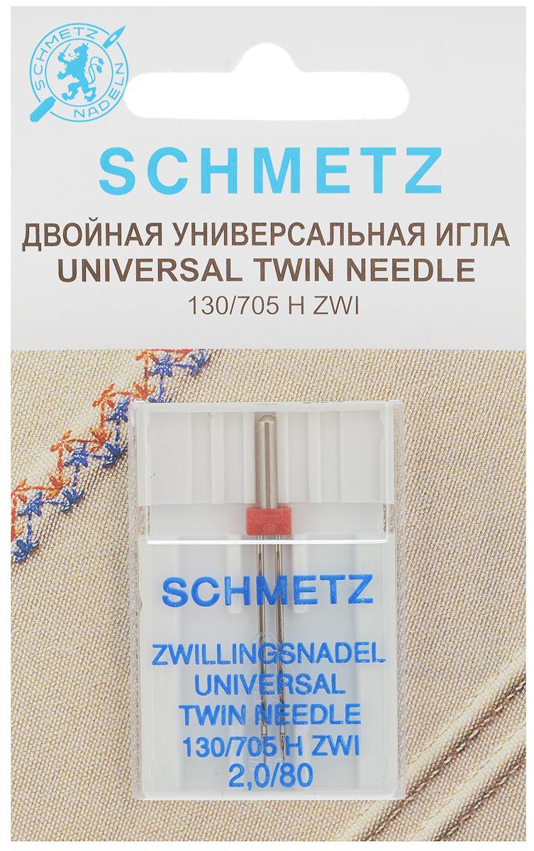 Игла универсальная для зигзаг-машин Schmetz, двойная, №2,0/80KT-508-3 бело-фиолетовыйДвойная игла Schmetz применяется для кантов, одно- или двухцветных декоративных швов. Идеальна для обработки края на хлопчатобумажных, льняных, костюмных тканях, выполнения отделочных строчек и рельефных защипов. Имеет конусообразное острие. Игла подходит только для зигзаг-машин с поперечно расположенным грейфером. Размер иглы: №2,0/80.Стандарт: 130/705 H ZWI.