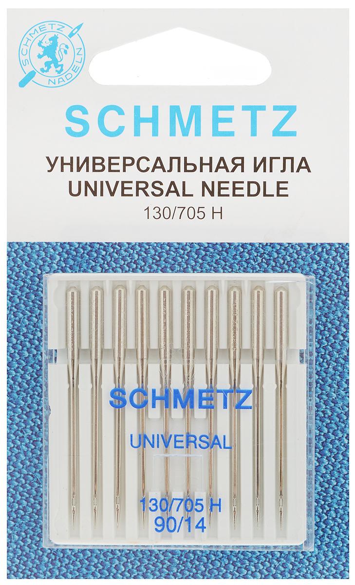 Набор универсальных игл Schmetz, №90, 10 штSM 10-09Набор Schmetz состоит из десяти универсальных игл для бытовых швейных машин. Иглы имеют слегка закругленное острие. Предназначены для большинства видов текстильных материалов, в том числе джерси, синтетики и других.Комплектация: 10 шт. Размер игл: №90.Стандарт: 130/705 H.