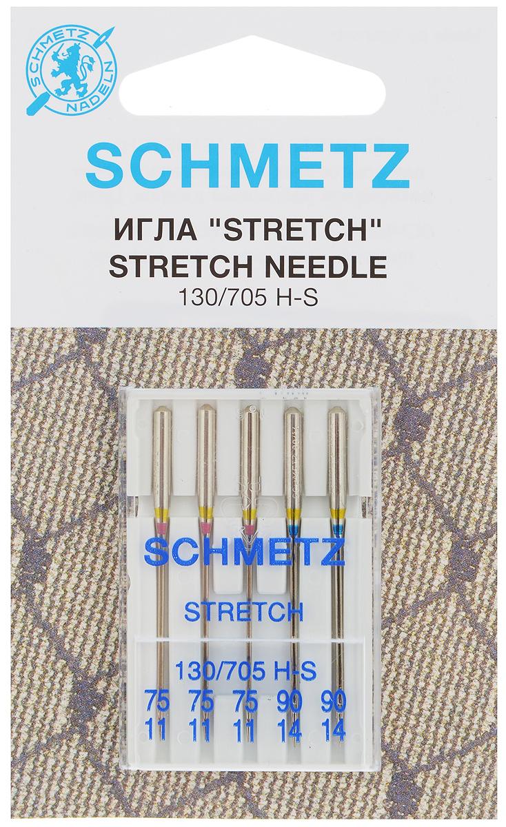 Набор игл Schmetz Stretch, №75, №90, 5 штComfort 05-15Набор Schmetz Stretch состоит из пяти игл для большинства бытовых швейных машин. Иглы со средним шарообразным острием, специальной конструкцией ушковой части и выемкой на её стержне. Предназначены для эластичных и высокоэластичных материалов, таких как шёлковый джерси и лайкра. Комплектация: 5 шт. Размер игл: №75, №90.Стандарт: 130/705 H-S.