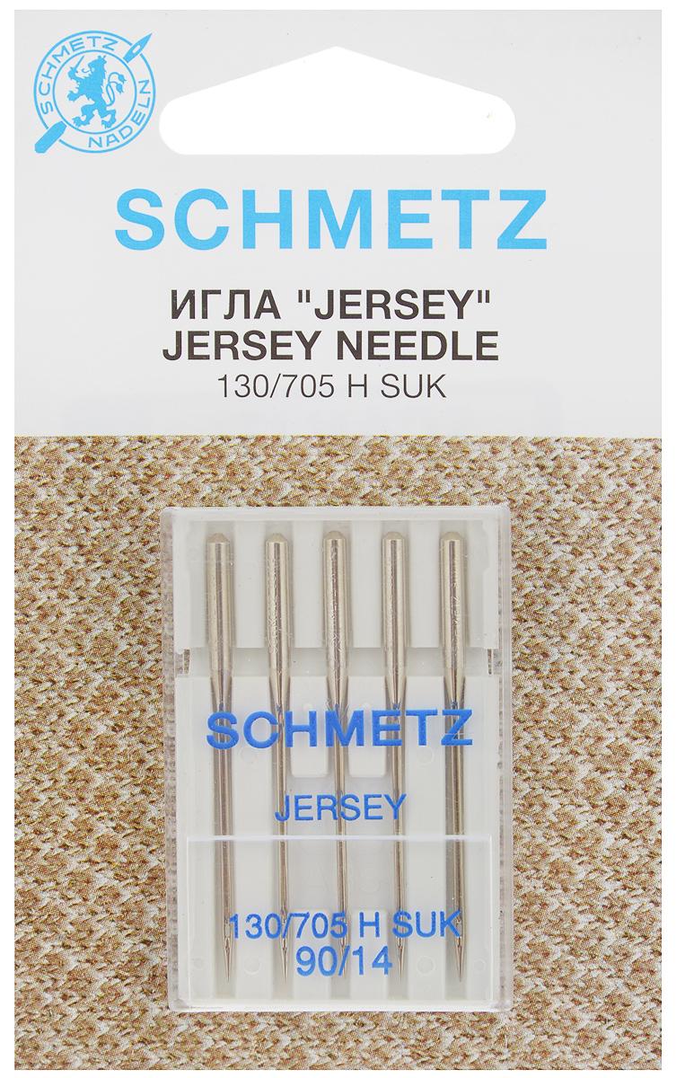 Набор игл Schmetz Jersey, №90, 5 шт162250Набор Schmetz Jersey состоит из пяти игл для бытовых швейных машин. Иглы имеют среднее шарообразное острие. Предназначены для вязаных изделий и трикотажа.Комплектация: 5 шт. Размер игл: №90.Стандарт: 130/705 H SUK.