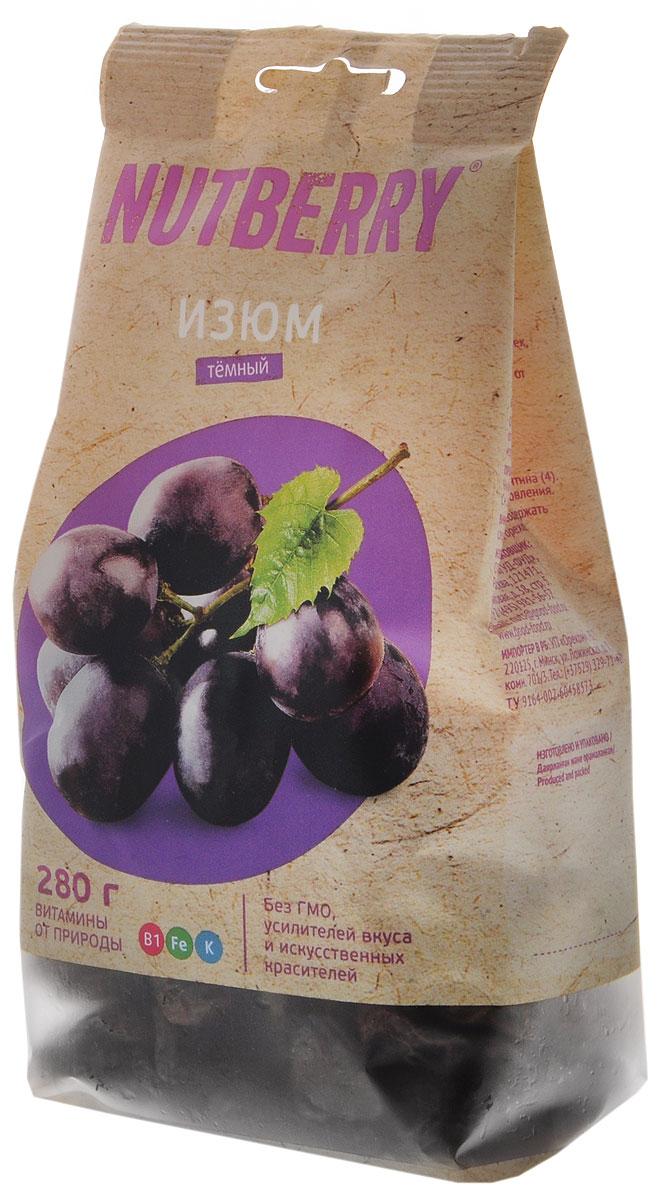 Nutberryизюмтемный,280г24Темный изюм – это вкусный и питательный продукт, обладающий полезными свойствами, заложенными самой природой. Самый вкусный, по мнению ценителей этого продукта, темный изюм сорта Томпсон Джамбо. Он отличается крупным калибром, нежной консистенцией и мягким вкусом.