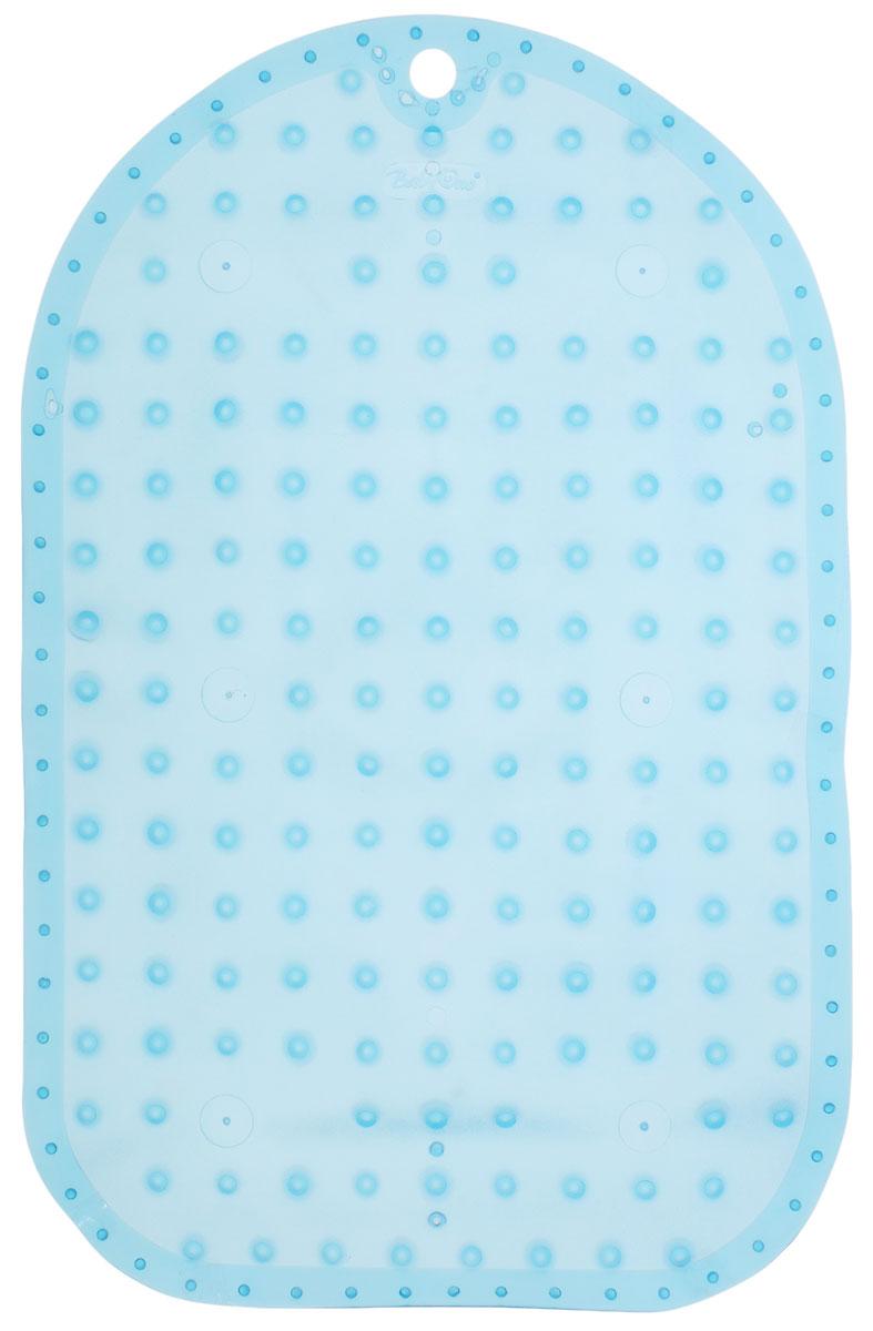 BabyOno Коврик противоскользящий для ванной цвет голубой 55 х 35 см -  Аксессуары для ванной комнаты