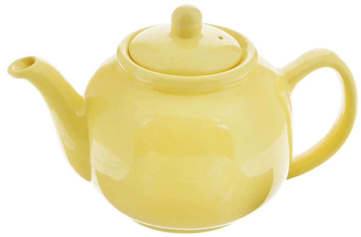 Чайник заварочный Loraine, цвет: желтый, 940 мл115510Заварочный чайник Loraine изготовлен из высококачественной доломитовой керамики высокого качества без примеси ПФОК. Глазурованное покрытие делает поверхность абсолютно гладкой и легкой для чистки. Изделие прекрасно подходит для заваривания вкусного и ароматного чая, травяных настоев. Оригинальный дизайн сделает чайник настоящим украшением стола. Он удобен в использовании и понравится каждому.Можно мыть в посудомоечной машине и использовать в микроволновой печи. Диаметр чайника (по верхнему краю): 9 см. Высота чайника (без учета крышки): 11,5 см.