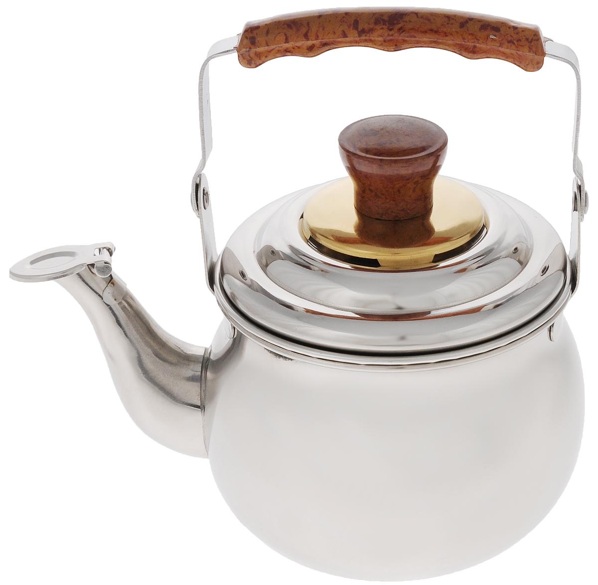 Чайник заварочный Mayer & Boch, со свистком, с фильтром, 700 млVT-1520(SR)Заварочный чайник Mayer & Boch выполнен из высококачественной нержавеющей стали, что обеспечивает долговечность использования. Эргономичная подвижная ручка из бакелита, декорированная под дерево, делает использование чайника очень удобным и безопасным. Чайник снабжен съемным фильтром для чая и свистком, который подскажет, когда вода закипела. В таком чайнике очень удобно готовить заварку прямо на газу. Подходит для использования на электрических, газовых, стеклокерамических плитах. Можно мыть в посудомоечной машине.Диаметр чайника (по верхнему краю): 10,5 см.Высота чайника (без учета ручки и крышки): 8 см.Высота фильтра: 4,5 см. УВАЖАЕМЫЕ КЛИЕНТЫ! Обращаем ваше внимание, что объем чайника измерен по факту, с учетом максимального наполнения до кромки.