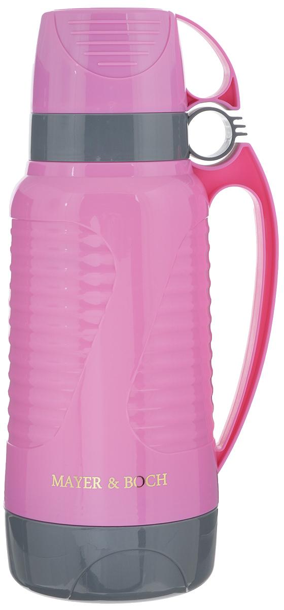 """Термос """"Mayer & Boch"""", с 2 чашами, цвет: розовый, серый, 1,8 л"""