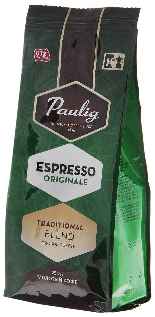 Paulig Espresso Originale кофе молотый, 250 г0120710Молотый кофе Paulig Espresso Originale - это высококачественный кофе итальянского типа с нежным и в тоже время крепким вкусом для приготовления эспрессо. Изготовлен из сладких бразильских и отборных центрально американских сортов. Этот традиционный эспрессо, обжаренный в северо-итальянском стиле, дополняет щепотка робусты, придающая ему насыщенность и интенсивность.