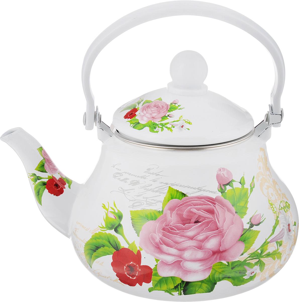 Чайник заварочный Mayer & Boch Розы, эмалированный, 1,5 л68/5/3Заварочный чайник Mayer & Boch Роза изготовлен из высококачественной углеродистой стали с эмалированным покрытием. Такое покрытие защищает сталь от коррозии, придает посуде гладкую стекловидную поверхность и надежно защищает от кислот и щелочей. Изделие прекрасно подходит для заваривания вкусного и ароматного чая, травяных настоев. Чайник оснащен сетчатым фильтром, который задерживает чаинки и предотвращает их попадание в чашку. Оригинальный дизайн сделает чайник настоящим украшением стола. Он удобен в использовании и понравится каждому. Подходит для использования на газовых, стеклокерамических, электрических, галогеновых и индукционных плитах. Можно мыть в посудомоечной машине. Диаметр чайника (по верхнему краю): 9,8 см. Высота чайника (без учета крышки): 10,7 см.Толщина стенок: 0,8 мм.