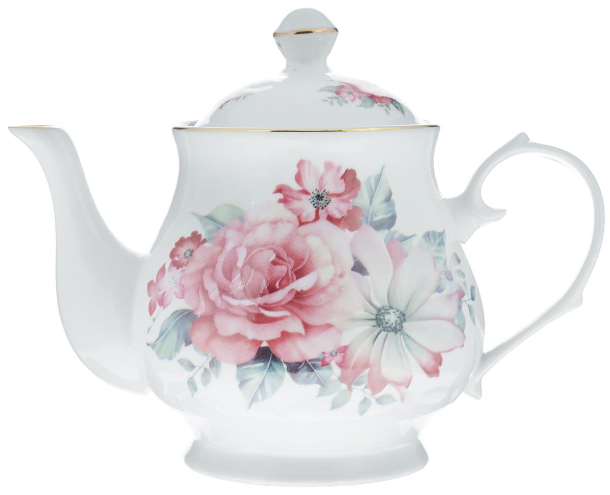 Чайник заварочный Loraine, 800 мл. 24579115510Заварочный чайник Loraine изготовлен из высококачественной керамики. Посудаоформлена ярким рисунком. Такой чайник идеально подойдет для заваривания чая. Он хорошо держит температуру, что способствует более полному раскрытию цвета, аромата и вкуса чайного букета. Чайник оснащен сетчатым фильтром, который задерживает чаинки и предотвращает их попадание в чашку.Изделие прекрасно дополнит сервировку стола к чаепитию и станет его неизменным атрибутом.Диаметр (по верхнему краю): 6,5 см. Диаметр основания: 8 см.Высота чайника (без учета крышки): 12 см.