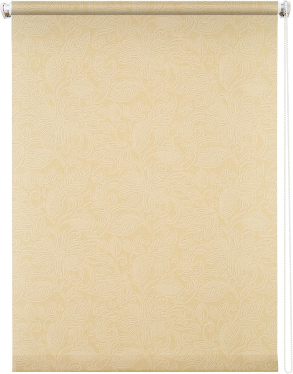 Штора рулонная Уют Ажур, цвет: бежевый, 120 х 175 см62.РШТО.8945.090х175Штора рулонная Уют Ажур выполнена из прочного полиэстера с обработкой специальным составом, отталкивающим пыль. Ткань не выцветает, обладает отличной цветоустойчивостью и светонепроницаемостью.Штора закрывает не весь оконный проем, а непосредственно само стекло и может фиксироваться в любом положении. Она быстро убирается и надежно защищает от посторонних взглядов. Компактность помогает сэкономить пространство. Универсальная конструкция позволяет крепить штору на раму без сверления, также можно монтировать на стену, потолок, створки, в проем, ниши, на деревянные или пластиковые рамы. В комплект входят регулируемые установочные кронштейны и набор для боковой фиксации шторы. Возможна установка с управлением цепочкой как справа, так и слева. Изделие при желании можно самостоятельно уменьшить. Такая штора станет прекрасным элементом декора окна и гармонично впишется в интерьер любого помещения.