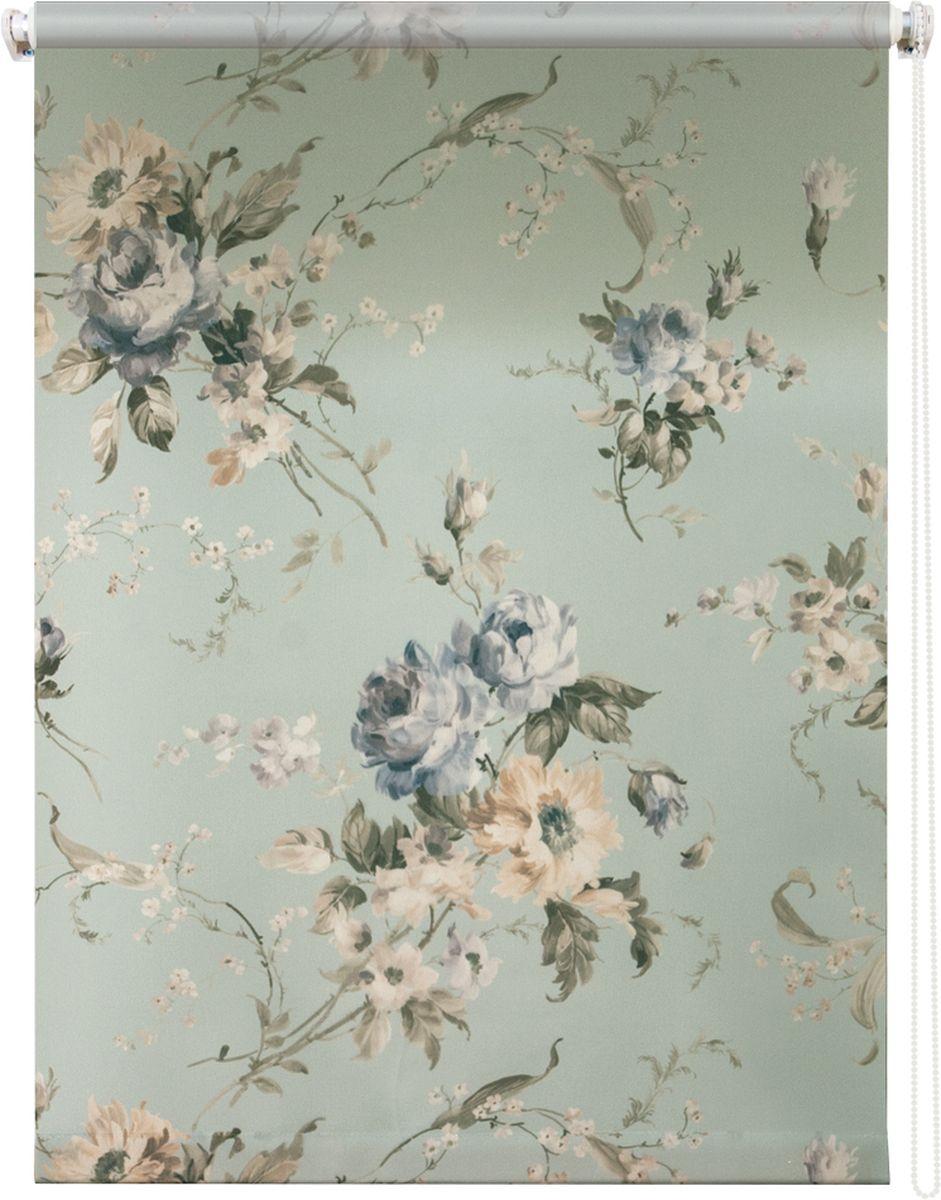 Штора рулонная Уют Розарий, цвет: голубой, бежевый, 60 х 175 смS03301004Штора рулонная Уют Розарий выполнена из прочного полиэстера с обработкой специальным составом, отталкивающим пыль. Ткань не выцветает, обладает отличной цветоустойчивостью и хорошей светонепроницаемостью. Изделие оформлено нежным цветочным рисунком, отлично подойдет для спальни, гостиной, кухни или столовой. Штора закрывает не весь оконный проем, а непосредственно само стекло и может фиксироваться в любом положении. Она быстро убирается и надежно защищает от посторонних взглядов. Компактность помогает сэкономить пространство. Универсальная конструкция позволяет крепить штору на раму без сверления, также можно монтировать на стену, потолок, створки, в проем, ниши, на деревянные или пластиковые рамы. В комплект входят регулируемые установочные кронштейны и набор для боковой фиксации шторы. Возможна установка с управлением цепочкой как справа, так и слева. Изделие при желании можно самостоятельно уменьшить. Такая штора станет прекрасным элементом декора окна и гармонично впишется в интерьер любого помещения.