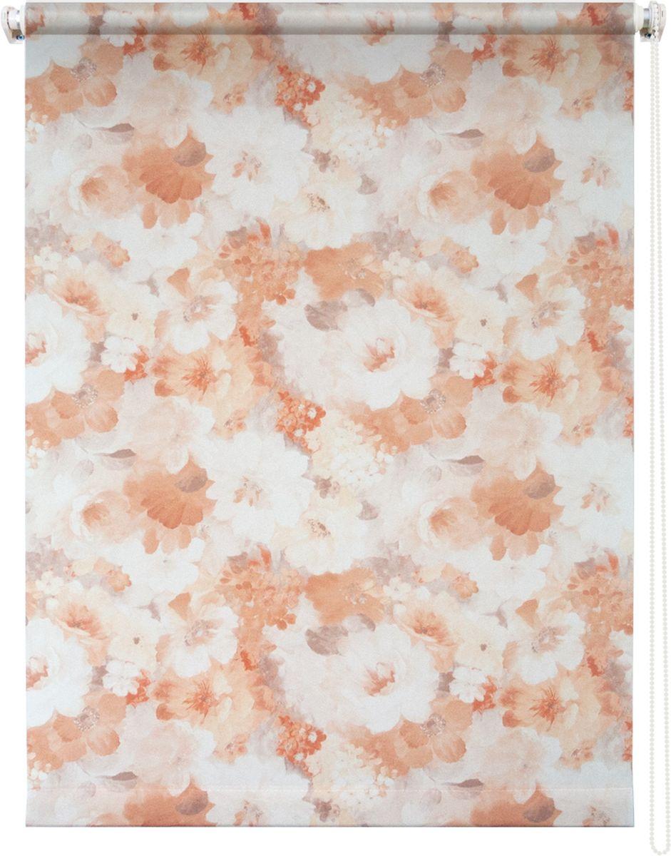 Штора рулонная Уют Пионы, цвет: бежевый, 140 х 175 см штора рулонная уют ажур цвет коричневый 140 х 175 см