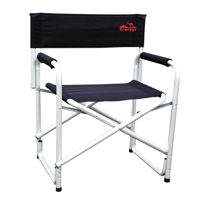 Стул директорский Tramp, цвет: черный, металлик, 120 кг. TRF-00109840-20.000.00Директорский стул Tramp Особенности: Классический стул жесткой конструкции для удобного отдыха за городом. Размер: 58 x 50 x 44/80 смДопустимая нагрузка: 120 кгТолщина трубки: 1,2 ммПолный вес: 2,7 кгДиаметр: 25 ммМатериал (ткань): 600D oxford двухслойныйМатериал рамы: алюминий