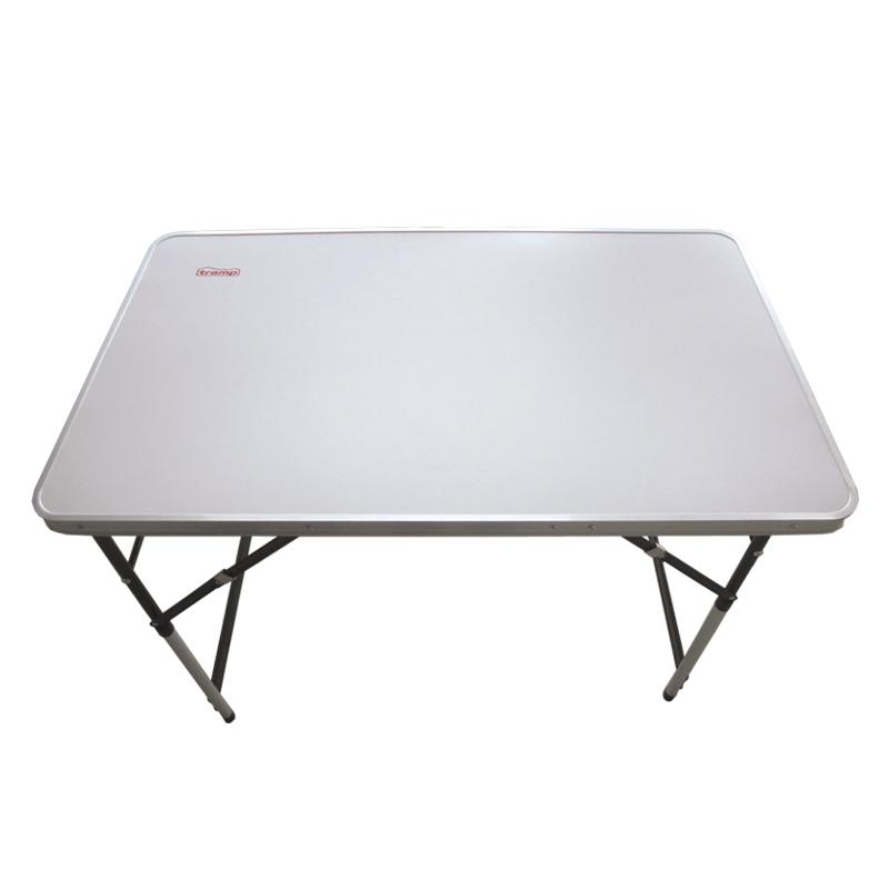 Стол складной Tramp, 100 х 60 х 73/80/87/94 смTRF-006Складной стол Tramp - универсальный стол для загородного отдыха и кемпинга. Столешница выполнена из МДФ, а рама из алюминия и стали. Высота стола свободно регулируется, есть четыре положения: 73, 80, 87 и 94 см. Поверхность столешницы белого цвета. В комплекте предусмотрен тканевый чехол, который защищает от царапин при перевозке и хранении.Размер: 100 х 60 х 73/80/87/94 см.Полный вес: 3,9 кг.Размер в сложенном виде: 100 х 61 х 3,5 см.Материал рамы: алюминий, сталь.Материал столешницы: МДФ 2,8 мм.