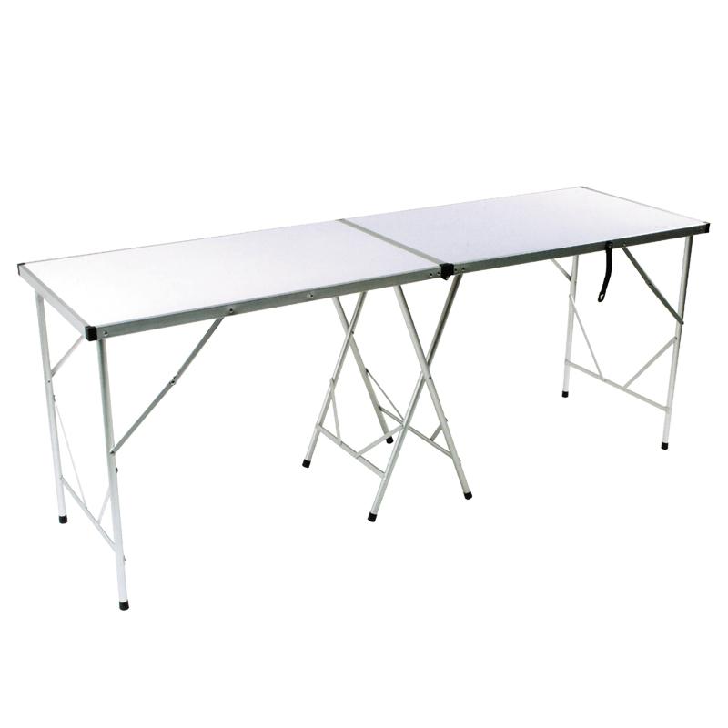 Стол складной Tramp, 198 х 60 х 78 см. TRF-024TRF-024Складной стол Tramp - универсальный стол для загородного отдыха и кемпинга. Столешница выполнена из МДФ, рама из алюминия.Поверхность столешницы белого цвета. В комплекте предусмотрен тканевый чехол, который защищает от царапин при перевозке и хранении.Стол имеет повышенную устойчивость, он легко складывается, переносится и занимает мало места при хранении.Размер: 198 х 60 х 78 см.Полный вес: 7,1 кг.Диаметр: 22 мм.Размер в упаковке: 99 х 60 х 6,6 см.Материал рамы: алюминий.Материал столешницы: МДФ 4,2 мм.