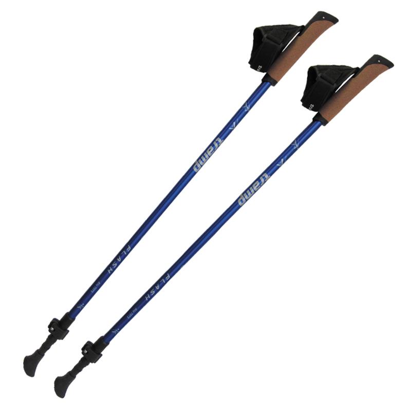 Палки телескопические для скандинавской ходьбы Tramp FLASH, цвет: синий, 84-135 cм. TRR-010 палки телескопические для скандинавской ходьбы tramp compact цвет красный белый 63 130 см trr 004