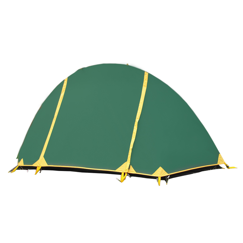 Палатка Тramp Bicycle Light 1, цвет: зеленый. TRT-010. 04KOCAc6009LEDТramp Bicycle Light - двухслойная палатка с двумя входами. Внешний тент палатки устойчив к ультрафиолетовому излучению, имеет пропитку, задерживающую распространение огня. У палатки два вентиляционных клапана, все швы проклеены. Палатка идеальна для туристических походов в весеннее, летнее и осеннее время. Пригодится она также мотоциклистам, и охотникам. Небольшой вес, современные материалы, прочность и поразительное удобство конструкций - все это отлично подойдет для каждого искателя приключений!Размер: 240 х 100 см. Высота: 100 см. Количество мест: 1. Тент: полиэстер. Количество входов: 2. Полный вес: 1,7 кг. Размер спального места: 240 х 100 см.
