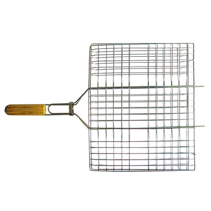 Решетка-гриль Totem, 65 х 25,5 см10684/5C TOONРешетка-гриль Totem выполнена из высококачественной пишевой стали с хромированным покрытием. Предназначена решетка-гриль для запекания мяса, птицы, рыбы или овощей.Удобные деревянные ручки не нагреваются. Специальные усики для удобного расположения на барбекю или мангале. Размер рабочей поверхности: 35 х 25,5 см. Размер решетки-гриля: 65 х 25,5 см.
