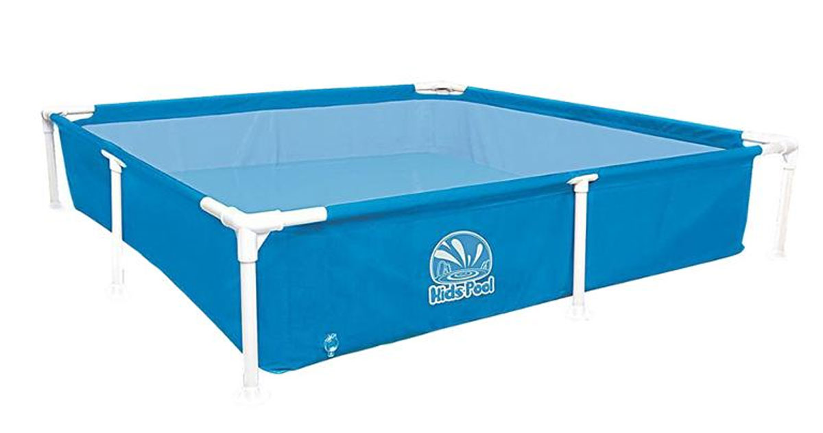 Бассейн каркасный Jilong Kids Frame Pool, цвет: голубой, 152 х 152 x 33 смAS 25Бассейн каркасный детский квадратный Jilong Kids Frame Pool - для использования на даче и природе.Характеристики:- Прочная стальная рама с пластиковыми угловыми соединениями- Рама в комплекте- Легкая сборка- Очень прочный 3-слойный материал- Легко складывается- Компактно упаковывается- В сложенном состоянии не занимает много места- Самоклеящаяся заплатка в комплектеКомпания Jilong - это широкий выбор продукции высокого качества и отличный выбор для отдыха на природе.