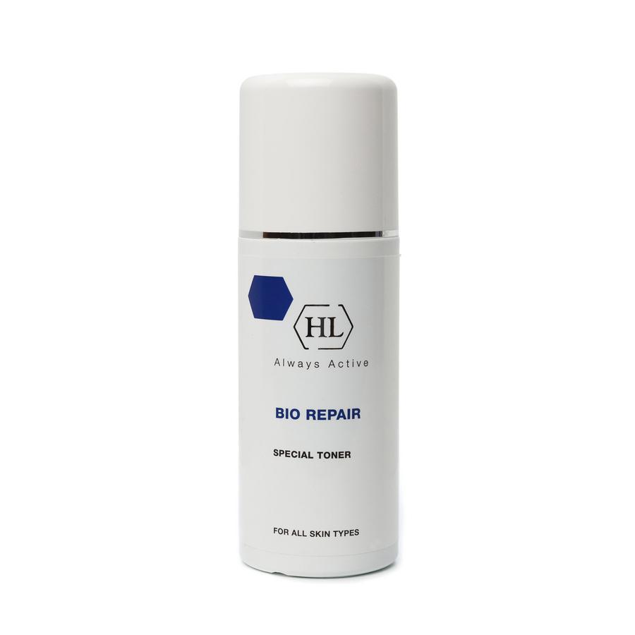 Holy Land Специальный тоник Bio Repair Special Toner 250 мл340132198/3607343762809Тонизирующий лосьон для всех типов кожи на основе лечебных растительных экстрактов. Действие:Очищение и увлажнение кожи. Тонизация кожи, повышение тургора. Стимуляция естественных репаративных процессов, заживление мелких повреждений. Профилактика преждевременного старения кожи и образования морщин. Активные компоненты: Repair Complex запатентованный комплекс растительных экстрактов и масел, обладающий уникальным восстанавливающим и сосудоукрепляющим действием.Экстракт гамамелиса обладает противовоспалительным, антисептическим, ранозаживляющим и успокаивающим действием, сокращает поры, уменьшает секрецию сальных желез, снимает раздражение кожи. Масло ромашки обладает противовоспалительным, антиаллергическим, успокаивающим действием, восстанавливает иммунитет, смягчает последствия солнечных ожогов. Витамин Е обладает антиоксидантной активностью, разглаживает кожу, придает ей эластичность и бархатистость, сохраняет влагу. Гуазулен компонент эфирного масла цветков ромашки.Оказывает регенерирующее, успокаивающее, противовоспалительное и противоаллергическое действие.
