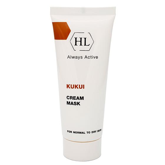 Holy Land Питательная маска Kukui Cream Mask For Dry Skin 70 млFS-00897Питательная крем-маска для нормальной и сухой кожи, особенно увядающей, обезвоженной и поврежденной. Действие:Питает и смягчает кожу, восстанавливает водно-липидную мантию. Предотвращает обезвоживание кожи и образование морщин. Повышает эластичность, выравнивает текстуру кожи, делает ее более гладкой. Предотвращает раздражение, ускоряет заживление микроповреждений кожи. Активные компоненты: Масло ореха кукуи, масло ореха макадамии.