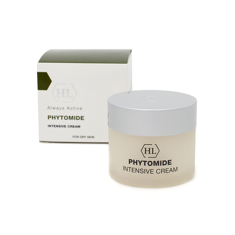 Holy Land Интенсивный крем Phytomide Intensive Cream 50 млA8794800Насыщенный питательный крем для использования вечером и в часы отдыха. Быстро впитывается. Действие:Обеспечивает кожу необходимыми питательными компонентами. Ускоряет процессы регенерации. Смягчает кожу, повышает ее упругость и эластичность. Активные компоненты: оливковое масло, подсолнечное масло, экстракт хвоща полевого, экстракт хмеля, экстракт пшеницы, гидролизованный шелк, масло бурачника, аскорбил пальмитат (витамин С), комплекс Phytolene, сквален, масло сладкого миндаля, гликосфин-голипиды, фосфолипиды, холестерол, масло ореха макадамии, экстракт вечернего перво-цвета, арахидоновая, линолевая и линоленовая кислоты, токоферил ацетат (витамин Е), ретинил пальмитат (витамин А).