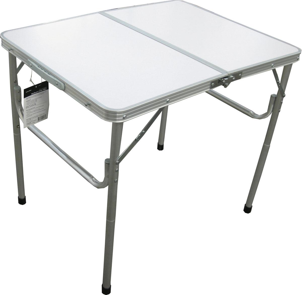 Стол складной Woodland Picnic Table, 80 x 60 x 68 см0036515Складной стол Woodland Picnic Table предназначен для создания комфортных условий в туристических походах, рыбалке и кемпинге.Особенности:Компактная и легкая складная конструкция.Прочный алюминиевый каркас с покрытием.Материал столешницы - МДФ.Удобная ручка для переноски.