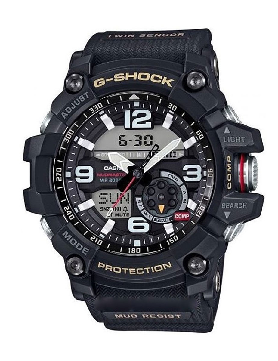 Часы наручные мужские Casio G-Shock, цвет: черный. GG-1000-1ABM8434-58AEУдаропрочность: Ударопрочная конструкция защищает от ударов и вибрации. 5 ежедневных будильников: Будильник напомнит Вам о повторяющихся событиях с помощью звукового сигнала, установленного Вами на определенное время. Вы также можете активировать почасовой сигнал времени, сообщающий о каждом полном часе. Эта модель имеет пять независимых будильников для оповещения о важных встречах. Функция повтора будильника: Каждый раз, когда Вы выключаете звуковой сигнал, он прозвучит повторно спустя несколько минут. 12/24-часовое отображение времени: Отображение времени можно в 12-часовом или 24-часовом формате. Ремешок из полимерного материала: Натуральный полимерный материал является идеальным для изготовления ремешка благодаря своей чрезвычайной прочности и гибкости. Неоновый дисплей: Светящееся покрытие обеспечивает длительную подсветку в темное время суток после короткого воздействия света. Функция мирового времени: Отображение текущего времени в основных городах и конкретных областях по всему миру. Автоматический календарь: После настройки автоматический календарь всегда отображает точную дату. Водонепроницаемость (20 бар): Идеально подходит для ныряния без акваланга: часы являются водонепроницаемыми до 20 Бар/на глубине до 200 метров . Значение метров не относится к глубине погружения, но относится к атмосферному давлению, используемого в процессе испытания на водонепроницаемость. (ISO 2281) Функция секундомера- 1/100 сек. - 24 часа: Прошедшее время измеряется с точностью в 1/100 секунды. Пределы измерения достигают 24 часов. Включение/выключение звука кнопок: Можно отключить звук при нажатии кнопок. Это означает, что часы больше не будут издавать звуковой сигнал при переключении от одной функции на другую. Заранее установленные звуковые сигналы или таймеры обратного отчета остаются активными, если звук кнопок отключен. 2 года - 1 аккумулятор: Аккумулятор обеспечивает часы достаточным питанием приблиз