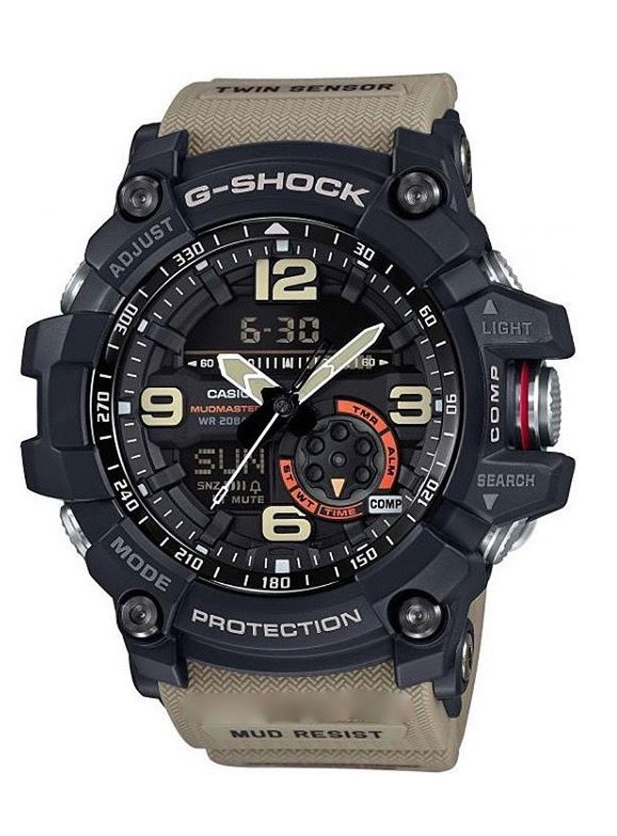 Часы наручные мужские Casio G-Shock, цвет: черный, песочный. GG-1000-1A5BM8434-58AEУдаропрочность: Ударопрочная конструкция защищает от ударов и вибрации. 5 ежедневных будильников: Будильник напомнит Вам о повторяющихся событиях с помощью звукового сигнала, установленного Вами на определенное время. Вы также можете активировать почасовой сигнал времени, сообщающий о каждом полном часе. Эта модель имеет пять независимых будильников для оповещения о важных встречах. Функция повтора будильника: Каждый раз, когда Вы выключаете звуковой сигнал, он прозвучит повторно спустя несколько минут. 12/24-часовое отображение времени: Отображение времени можно в 12-часовом или 24-часовом формате. Ремешок из полимерного материала: Натуральный полимерный материал является идеальным для изготовления ремешка благодаря своей чрезвычайной прочности и гибкости. Неоновый дисплей: Светящееся покрытие обеспечивает длительную подсветку в темное время суток после короткого воздействия света. Функция мирового времени: Отображение текущего времени в основных городах и конкретных областях по всему миру. Автоматический календарь: После настройки автоматический календарь всегда отображает точную дату. Водонепроницаемость (20 бар): Идеально подходит для ныряния без акваланга: часы являются водонепроницаемыми до 20 Бар/на глубине до 200 метров . Значение метров не относится к глубине погружения, но относится к атмосферному давлению, используемого в процессе испытания на водонепроницаемость. (ISO 2281) Функция секундомера- 1/100 сек. - 24 часа: Прошедшее время измеряется с точностью в 1/100 секунды. Пределы измерения достигают 24 часов. Включение/выключение звука кнопок: Можно отключить звук при нажатии кнопок. Это означает, что часы больше не будут издавать звуковой сигнал при переключении от одной функции на другую. Заранее установленные звуковые сигналы или таймеры обратного отчета остаются активными, если звук кнопок отключен. 2 года - 1 аккумулятор: Аккумулятор обеспечивает часы достаточным питан