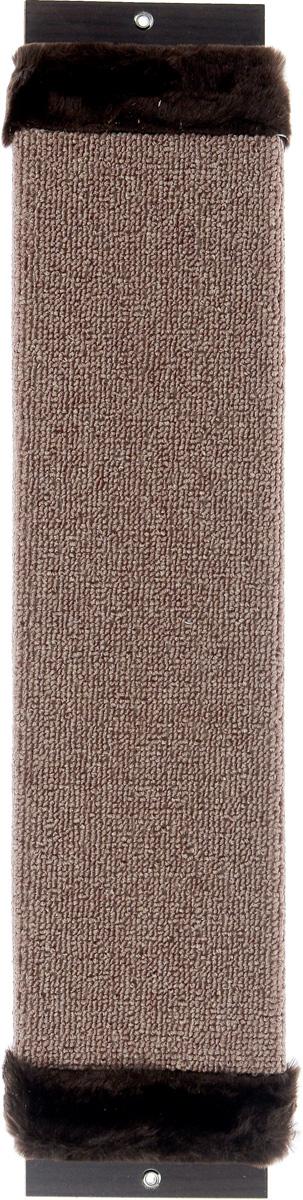 Когтеточка Зверье Мое, с запахом валерьяны, цвет: коричневый, темно-коричневый, длина 60 см101-2Когтеточка Зверье Мое поможет сохранить мебель и ковры в доме от когтей вашего любимца, стремящегося удовлетворить свою естественную потребность точить когти. Когтеточка изготовлена из ДСП и обтянута ковролином. Изделие оснащено вставками из искусственного меха. На когтеточке имеются 2 отверстия для крепления к стене. Товар продуман в мельчайших деталях и, несомненно, понравится вашей кошке. Всем кошкам необходимо стачивать когти. Когтеточка - один из самых необходимых аксессуаров для кошки. Для легкого приучения питомца когтеточка обработана привлекающей пропиткой с запахом валерьяны.