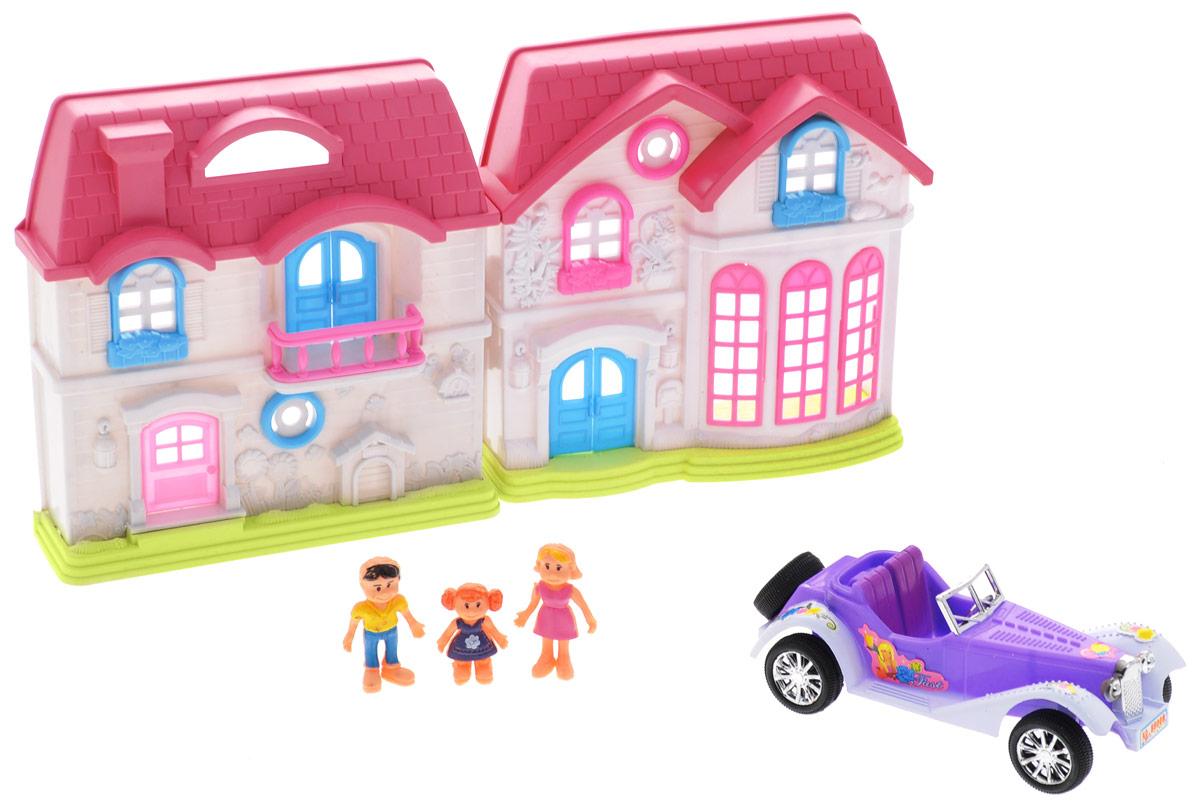 S+S Toys Игровой набор Волшебная вилла с автомобилем