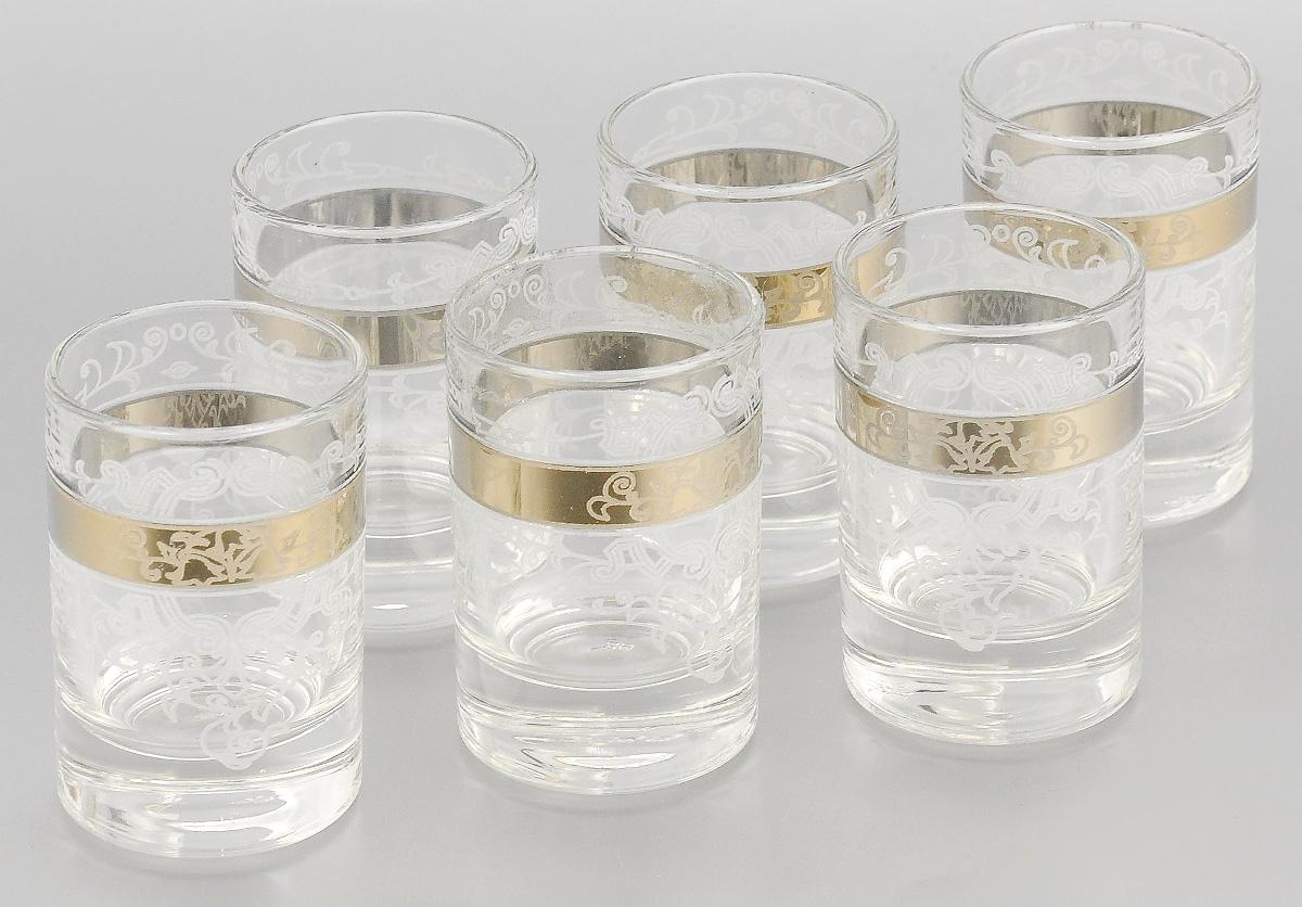 Набор стопок для водки Мусатов Бьюти, 60 мл, 6 штVT-1520(SR)Набор Мусатов Бьюти состоит из 6 стопок, изготовленных из высококачественного натрий-кальций-силикатного стекла. Изделия оформлены красивым зеркальным покрытием и оригинальным орнаментом. Такой набор прекрасно дополнит праздничный стол и станет желанным подарком в любом доме. Можно мыть в посудомоечной машине. Диаметр стопки (по верхнему краю): 4,5 см. Высота стопки: 6,5 см.