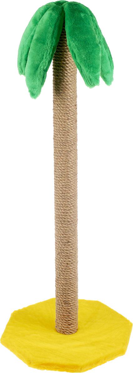 Когтеточка ЗооМарк Пальма, на подставке, высота 100 см0120710Когтеточка ЗооМарк Пальма поможет сохранить мебель и ковры в доме от когтей вашего любимца, стремящегося удовлетворить свою естественную потребность точить когти. Когтеточка изготовлена из дерева, искусственного меха и джута. Она имеет оригинальный дизайн в виде пальмы, стоящей на песке. Товар продуман в мельчайших деталях и, несомненно, понравится вашей кошке. Всем кошкам необходимо стачивать когти. Когтеточка - один из самых необходимых аксессуаров для кошки. Для приучения к когтеточке можно натереть ее сухой валерьянкой или кошачьей мятой. Когтеточка поможет вашему любимцу стачивать когти и при этом не портить вашу мебель.Размер основания: 35 х 35 см.Диаметр когтеточки: 6,5 см.Высота когтеточки: 100 см.