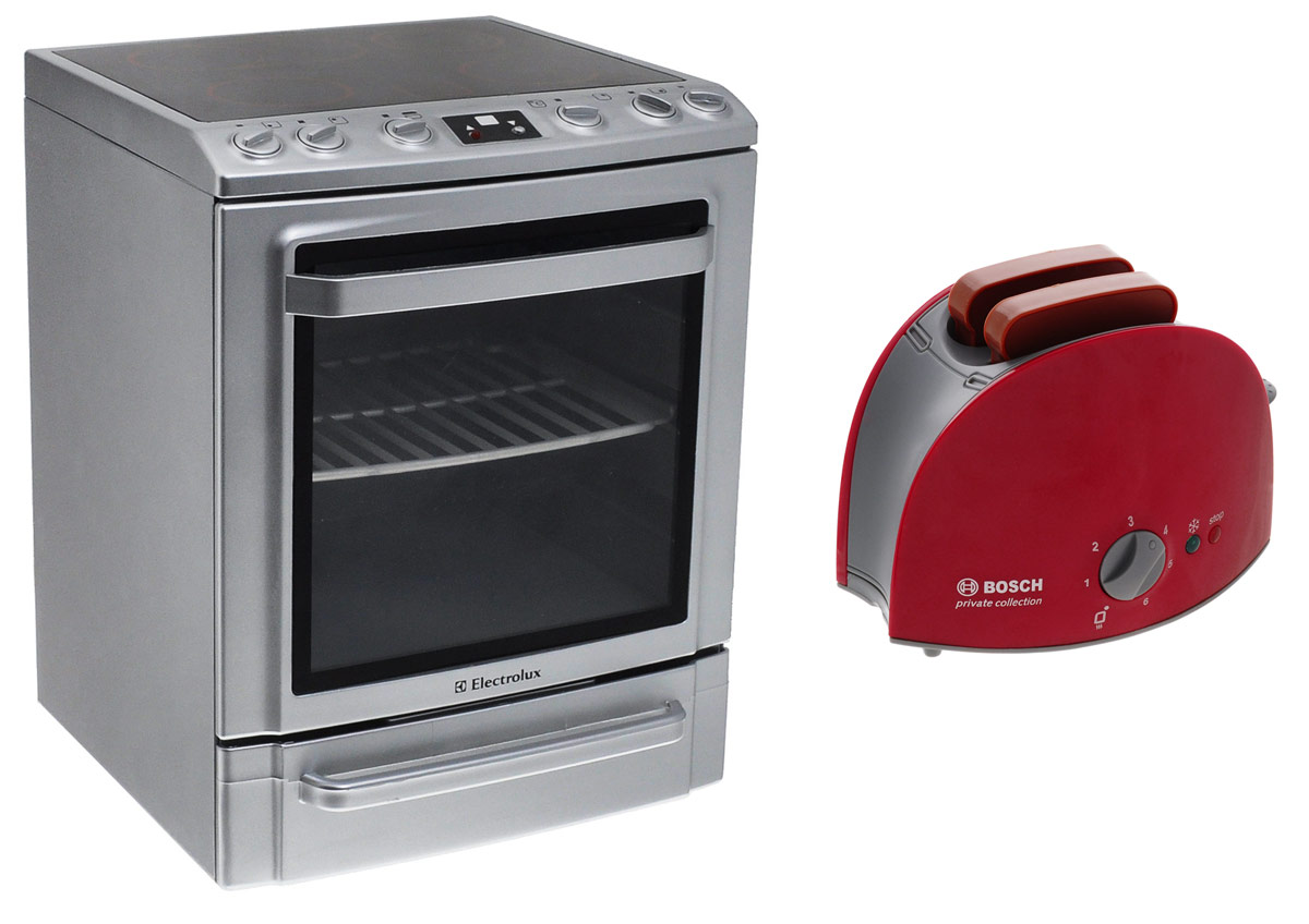Klein Игрушечная плита Electrolux + Игрушечный тостер Bosch в подарок electrolux плита со звуком и подсветкой klein