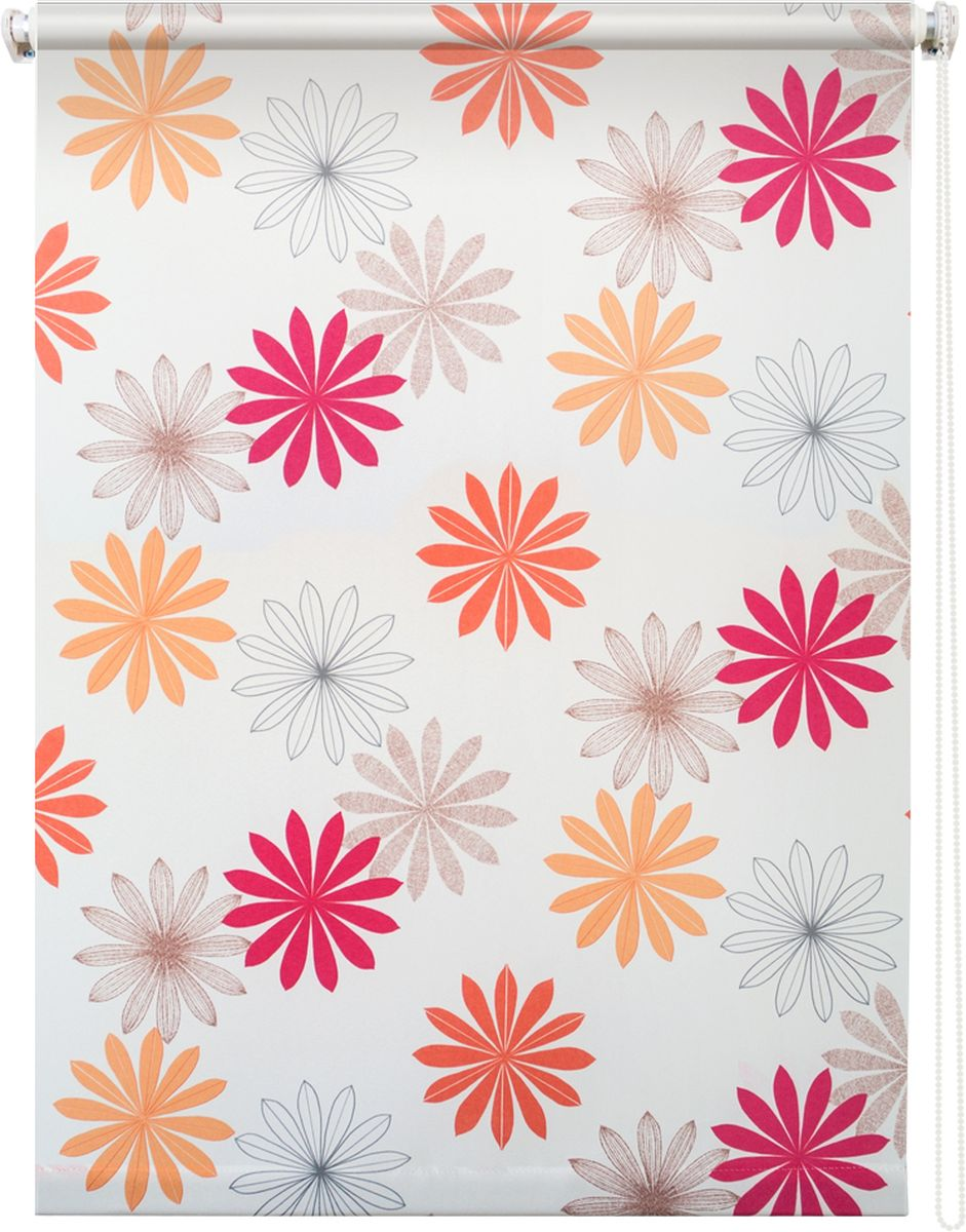 Штора рулонная Уют Космея, цвет: белый, 60 х 175 см62.РШТО.8967.070х175Штора рулонная Уют Космея выполнена из прочного полиэстера с обработкой специальным составом, отталкивающим пыль. Ткань не выцветает, обладает отличной цветоустойчивостью и хорошей светонепроницаемостью. Изделие оформлено красочным цветочным узором, отлично подойдет для спальни, кухни, гостиной, а также детской. Штора закрывает не весь оконный проем, а непосредственно само стекло и может фиксироваться в любом положении. Она быстро убирается и надежно защищает от посторонних взглядов. Компактность помогает сэкономить пространство. Универсальная конструкция позволяет крепить штору на раму без сверления, также можно монтировать на стену, потолок, створки, в проем, ниши, на деревянные или пластиковые рамы. В комплект входят регулируемые установочные кронштейны и набор для боковой фиксации шторы. Возможна установка с управлением цепочкой как справа, так и слева. Изделие при желании можно самостоятельно уменьшить. Такая штора станет прекрасным элементом декора окна и гармонично впишется в интерьер любого помещения.