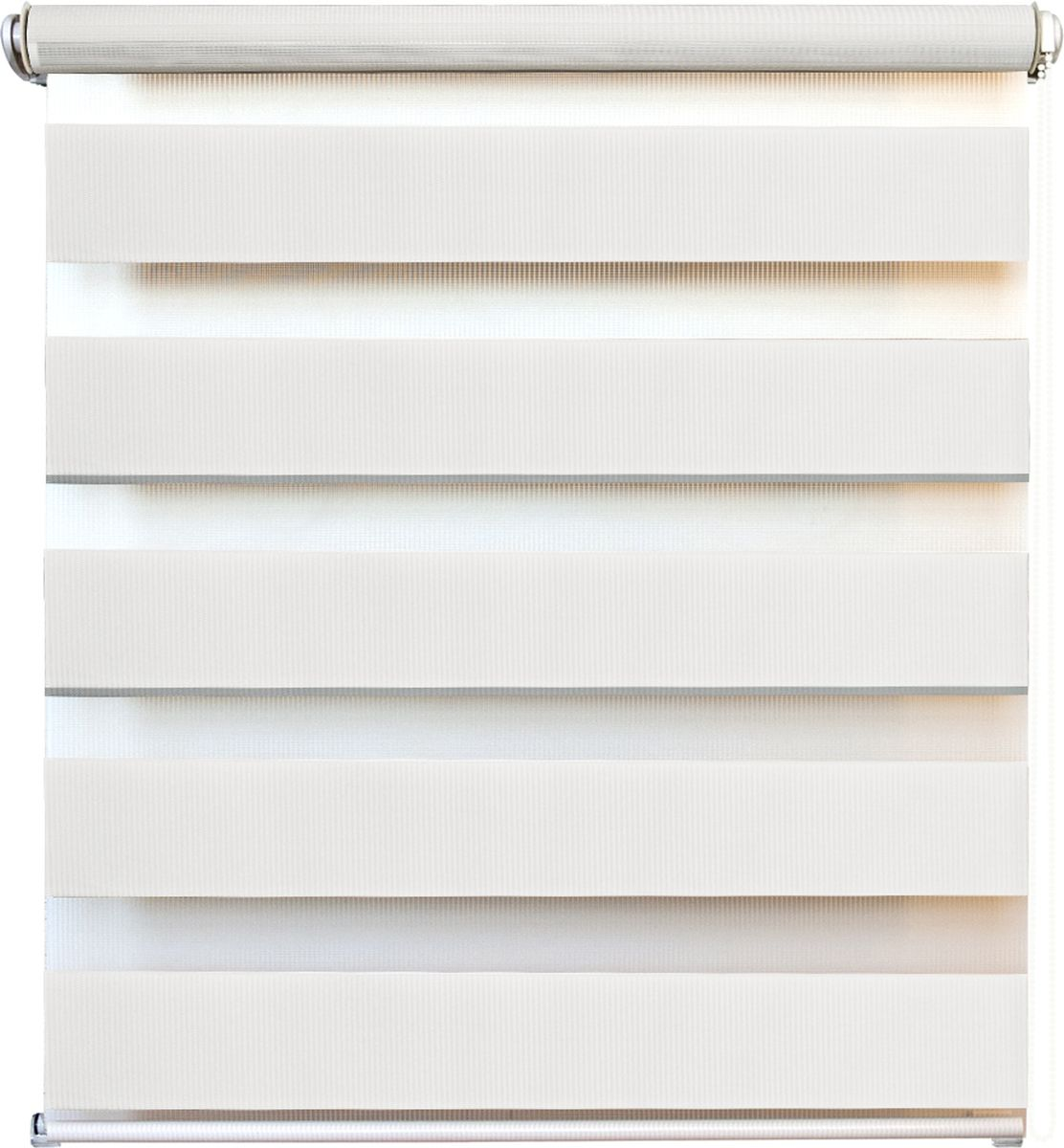 Штора рулонная день/ночь Уют Канзас, цвет: белый, 100 х 160 см62.РШТО.8920.100х160Штора рулонная день/ночь Уют Канзас выполнена из прочного полиэстера, в котором чередуются полосы различной плотности и фактуры. Управление двойным слоем ткани с помощью цепочки позволяет регулировать степень светопроницаемости шторы. Если совпали плотные полосы, то прозрачные будут открыты максимально. Это положение шторы называется День. Максимальное затемнение помещения достигается при полном совпадении полос разных фактур. Это положение шторы называется Ночь. Конструкция шторы также позволяет полностью свернуть полотно, обеспечив максимальное открытие окна. Рулонная штора - это разновидность штор, которая закрывает не весь оконный проем, а непосредственно само стекло. Такая штора очень компактна, что помогает сэкономить пространство. Универсальная конструкция позволяет монтировать штору на стену, потолок, деревянные или пластиковые рамы окон. В комплект входят кронштейны и нижний утяжелитель. Возможна установка с управлением цепочкой как справа, так и слева. Такая штора станет прекрасным элементом декора окна и гармонично впишется в интерьер любого помещения. Классический дизайн подойдет для гостиной, спальни, кухни, кабинета или офиса.