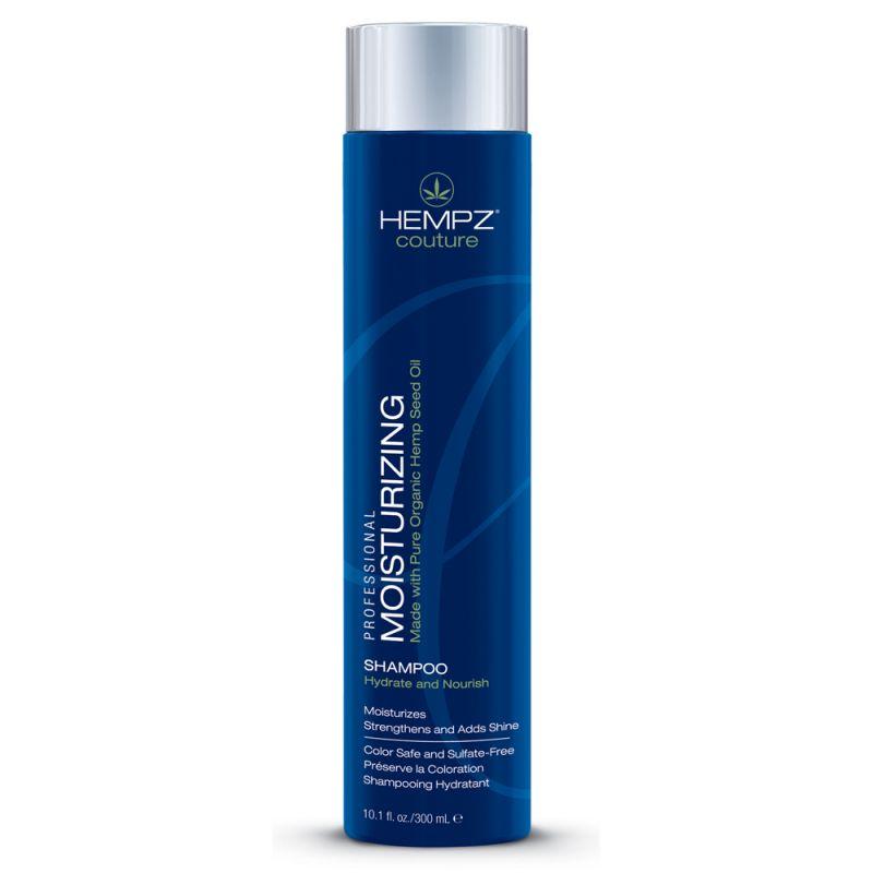 Hempz Шампунь увлажняющий Moisturizing Shampoo 300 мл7786Увлажняющий шампунь Moisturizing Shampoo делает волосы послушными и мягкими и наполняет их живительной силой. Шампунь на длительное время сохраняет цвет натуральных и окрашенных волос, защищает их от термического воздействия потоков горячего воздуха и солнечного излучения. Активно предотвращает вымывание цвета, блокирует действие жестких компонентов воды.Moisturizing Shampoo не содержит глютенов и парабенов и на 100% состоит из натуральных растительных компонентов.Состав активных компонентов: экстракт семян конопли, конопляное, кукурузное, кунжутное и соевое масло, гидролизированные пшеничные и соевые протеины, производная гуаровой смолы, экстракты настурции, крапивы, арники, розмарина и пантенол.