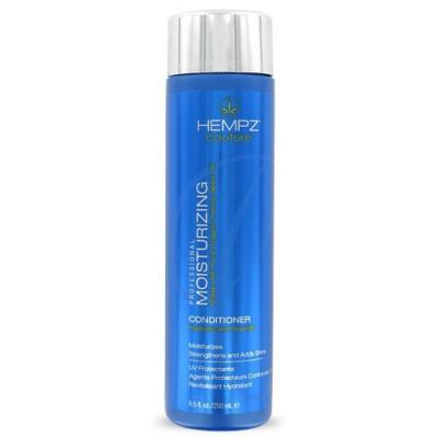 Hempz Кондиционер увлажняющий Moisturizing Conditioner 250 млFS-00897Увлажняющий кондиционер Moisturizing Conditioner придает волосам мягкость и наполняет их живительной силой. Кондиционер на длительное время сохраняет цвет натуральных и окрашенных волос, оберегает их от термического воздействия потоков горячего воздуха и солнечного излучения. Активно предотвращает вымывание цвета, блокирует действие жестких компонентов воды. Moisturizing Conditioner не содержит глютенов и парабенов и на 100% состоит из натуральных растительных компонентов. Состав активных компонентов: конопляный экстракт, конопляное, кукурузное, кунжутное и соевое масло, гидролизированные пшеничные и соевые протеины, производная гуаровой смолы, экстракты настурции, крапивы, арники, розмарина и пантенол.
