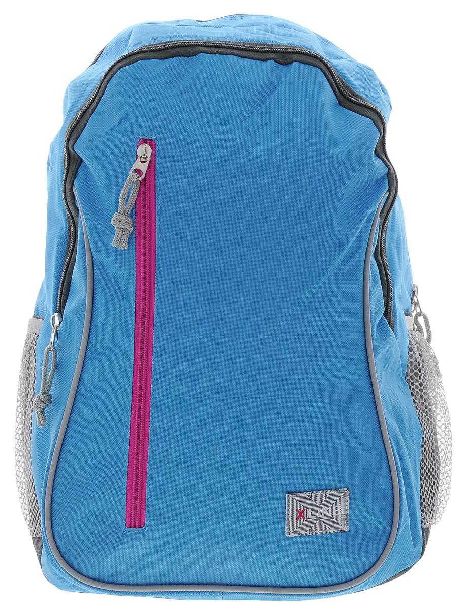 Proff Рюкзак школьный X-line цвет голубой серый72523WDШкольный рюкзак Proff X-line обязательно понравится вашему школьнику. Выполнен рюкзак из прочного и высококачественного материала.Содержит два вместительных отделения, закрывающиеся на застежки-молнии. По бокам находятся два открытых кармана-сетки, стянутых сверху резинкой. Лицевая сторона оснащена прорезным карманом на застежке-молнии. Мягкие широкие анатомические лямки позволяют легко и быстро отрегулировать изделие в соответствии с ростом. Рюкзак оснащен текстильной ручкой для удобной переноски в руке. Светоотражающие элементы обеспечивают безопасность в темное время суток.Многофункциональный школьный рюкзак станет незаменимым спутником вашего ребенка в походах за знаниями.