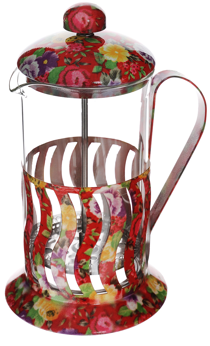 Френч-пресс Mayer & Boch, 600 мл. 20029115510Френч-пресс Mayer & Boch позволит быстро и просто приготовить свежий и ароматный чай или кофе. Корпус изготовлен из высококачественного жаропрочного боросиликатного стекла, устойчивого к окрашиванию, царапинам и термошоку. Фильтр-поршень из нержавеющей стали выполнен по технологии press-up для обеспечения равномерной циркуляции воды. Готовить напитки с помощью френч-пресса очень просто. Насыпьте внутрь заварку и залейте кипятком. Остановить процесс заваривания легко. Для этого нужно просто опустить поршень, и заварка уйдет вниз, оставляя вверху напиток, готовый к употреблению. Заварочный чайник с прессом - это совершенный чайник для ежедневного использования. Практичный и стильный дизайн полностью соответствует последним модным тенденциям в создании предметов кухонной утвари.Можно мыть в посудомоечной машине.Диаметр колбы: 8,5 см. Диаметр основания: 11,5 см.Высота (с учетом крышки): 22 см.