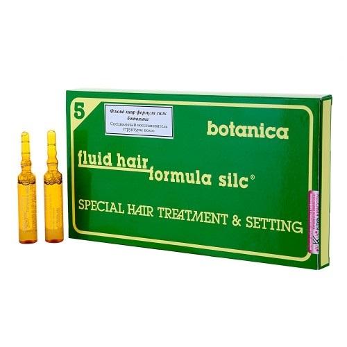 WT-Methode Флюид Хаир Формула Силк Ботаника для волос Fluid hair formula silc botanica 12х10 млFS-36054Этот препарат способен вернуть волосам силу, упругость, эластичность и блеск. Особенно подходит для ухода за повреждёнными, пористыми, окрашенными и подвергавшимися химической завивке волосами, а также перед самой процедурой окрашивания волос или химической завивики в качестве предварительного лечения. После применения этого препарата волосы становятся более гладкими и блестящими, а их цвет – более ярким и насыщенным. Помимо этого, решается проблема накопления статического электричества в волосах.