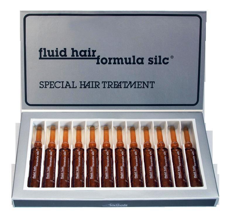 WT-Methode Флюид Хаир Формула Силк для волос Fluid hair formula silc 12х10 млFS-54115Секрет Формулы Силк - это содержащийся в ней жидкий кератин и некоторые другие компоненты, помогающие восстановить волос. Кератин имеет способность проникать вглубь волоса и восстанавливать даже те его участки, где структура сильно нарушена. Формула Силк – это быстрое лечение секущихся, тонких и ломких волос. Препарат воздействует не на корневую систему, а непосредственно на структуру самого волоса. Эффект виден уже после первого применения.