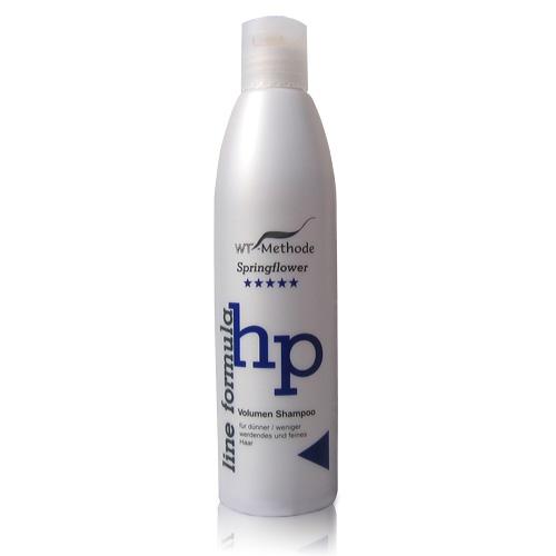 WT-Methode Шампунь для тонких и ослабленных волос Line formula Volumen Shampoo Springflower 250 млWTM-PLF-04Главная особенность шампуня Line formula Volumen Shampoo Springflower – тщательно подобранный состав активных компонентов, благотворно влияющих на кожу головы и волосы. Эффективно ухаживать за волосами, а также успокаивать и способствовать регенерации воспалённой кожи головы позволяют такие ингредиенты, как экстракт листьев саговой пальмы и хмеля, молочная кислота (лактат) и пантенол.Натуральные компоненты шампуня Volumen Shampoo решают несколько задач: стабилизируют кислотно-щелочной баланс кожи головы, улучшают состояние её клеток и ускоряют процесс их восстановления.Наилучших результатов можно добиться, используя Volumen Shampoo совместно с такими препаратами, как Placen Formula HP Botanica и Placen Formula HP.