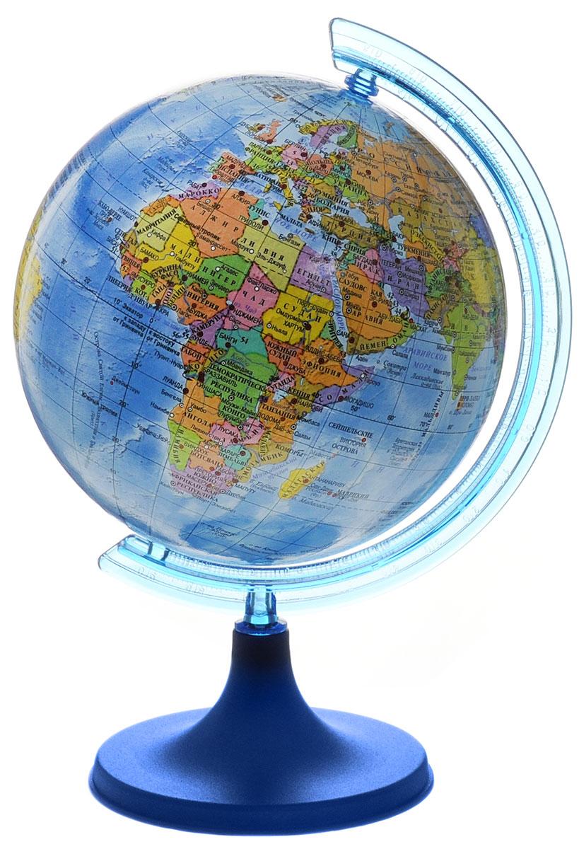DMB Глобус политический диаметр 11 см + мини-энциклопедия Страны мираRG142/PHПолитический глобус DMB, изготовленный из высококачественного прочного пластика, дает представление о политическом устройстве мира. Изделие расположено на подставке. Все страны мира раскрашены в разные цвета. На политическом глобусе показаны границы государств, столицы и крупные населенные пункты, а также картографические линии: параллели и меридианы, линия перемены дат. Названия стран на глобусе приведены на русском языке. Ничто так не обеспечивает всестороннего и детального изучения политического устройства мира в таком сжатом и объемном образе, как политический глобус. Сделайте первый шаг в стимулирование своего обучения!К глобусу прилагается мини-энциклопедия Страны мира с кратким описанием всех стран.