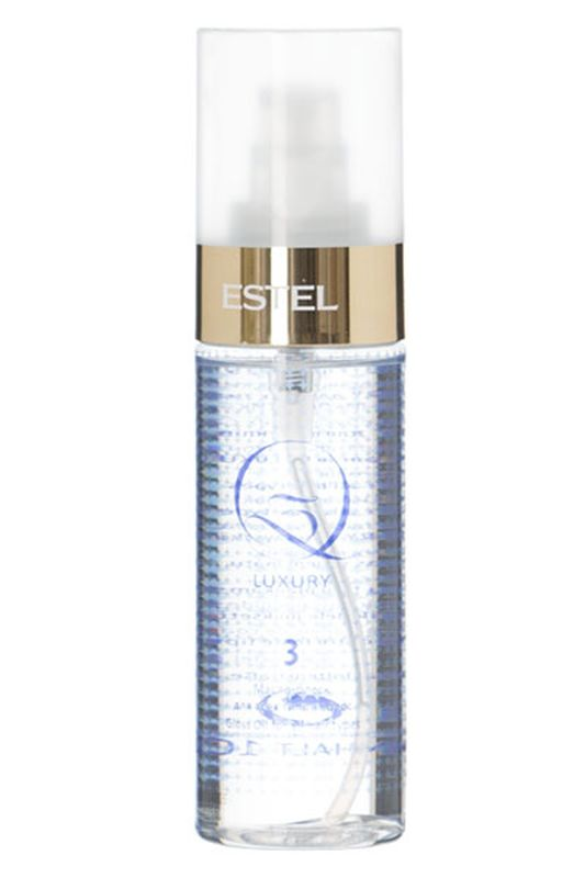 Estel Масло блеск для всех типов волос Q3 LUXURY 100 мл0861-14141Масло-блеск Q3 Luxury – это третий шаг в процедуре экранирования Q3 Therapy от российского бренда Estel Professional. Продукт предназначен для финального придания волосам ослепительного мерцающего блеска и удивительной гладкости. В состав средства входит масло камелии и ореха макадамии, обладающие прекрасными проникающими, кондиционирующими и защитными свойствами.Масло камелии окутывает каждый волосок тончайшим слоем, придающим прядям шелковистость, сияние и потрясающий вид. Надежно уберегает от UV-излучения и температурных нагрузок.Масло ореха макадамии усиливает блеск локонов, восстанавливает поврежденные участки структуры, прекрасно вбирается волосами, насыщая их витаминами, аминокислотами и питательными веществами. Результат: После нанесения масла Q3 Luxury локоны приобретают потрясающий блеск и мягкость кашемира, становятся гладкими и удивительно красивыми. Благодаря эффекту глубокого кондиционирования пряди легко расчесываются, не спутываются, имеют аккуратный ухоженный вид.